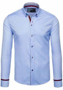 Koszula męska BOLF 5801 błękitna