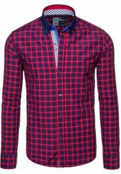 Koszula męska BOLF 5813 czerwona