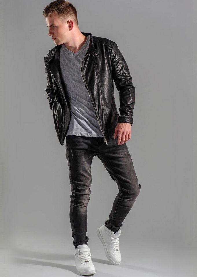 Spodnie Stylizacja Kurtka T Nr Skórzana Shirt Jeansowe 49 RYqwpYS6