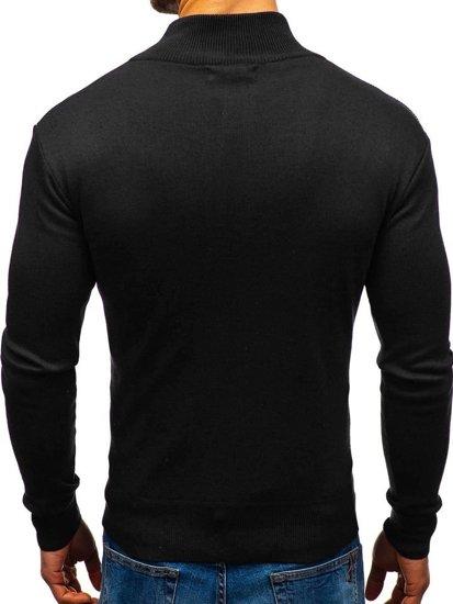 Sweter męski czarny Denley BM6113