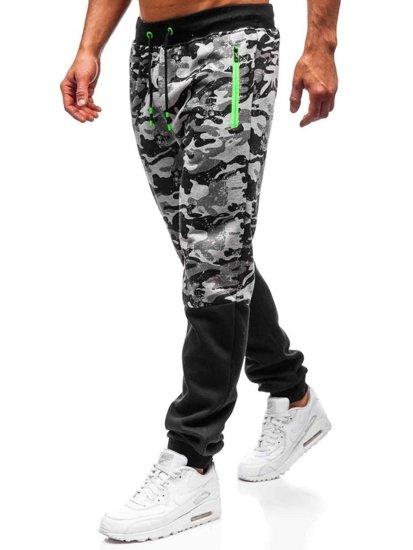 Spodnie męskie dresowe joggery szare Denley 55022