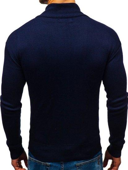 Sweter męski rozpinany atramentowy Denley BM6112