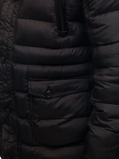 Kurtka męska zimowa czarna Denley 48884