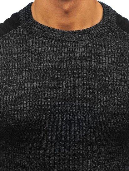 Sweter męski czarny Denley 157