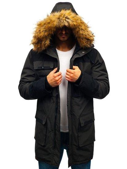 Kurtka męska zimowa khaki Denley 201817