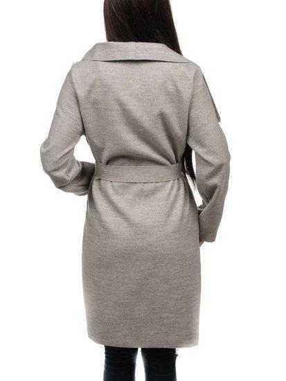 Płaszcz długi damski szary Denley 1729