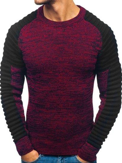 Sweter męski czarno-czerwony Denley 157
