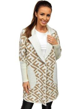 Beżowy płaszcz damski Denley 20682