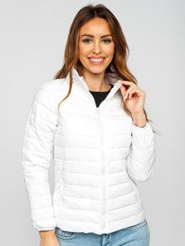 Biała pikowana kurtka damska przejściowa Denley 1141