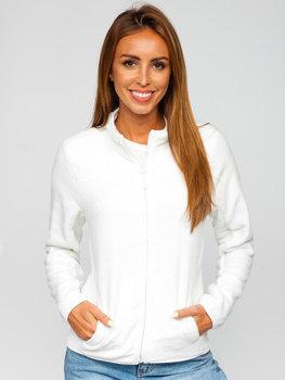 Biała polarowa bluza damska Denley HH001