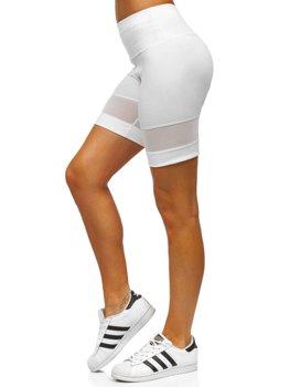 Białe krótkie legginsy damskie Denley 54498
