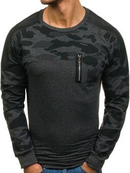 Bluza męska bez kaptura antracytowa Denley 0749