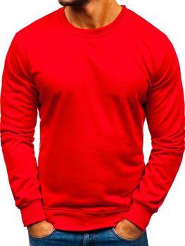 Bluza męska bez kaptura czerwona Denley 22003