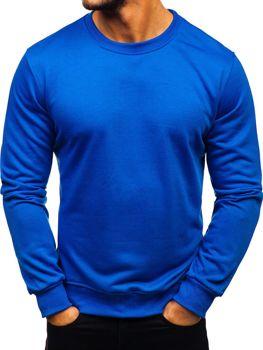 Bluza męska bez kaptura kobaltowa Denley 22003