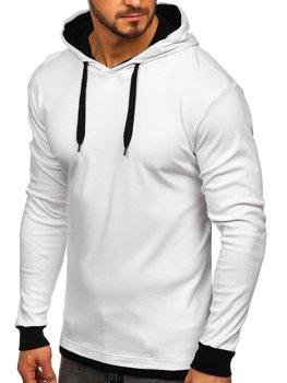 Bluza męska z kapturem biała Bolf 145380