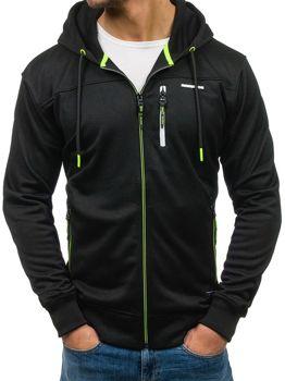 Bluza męska z kapturem czarna Denley 3728