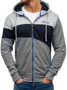 Bluza męska z kapturem grafitowo-szara Denley HL02