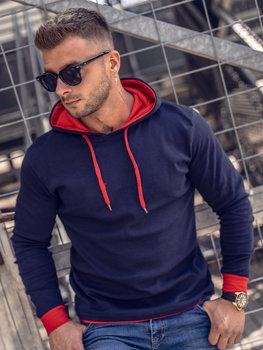 Bluza męska z kapturem granatowa Bolf 145380