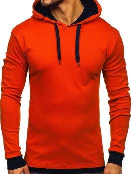 Bluza męska z kapturem pomarańczowa Bolf 145380