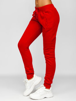 Bordowe spodnie dresowe damskie Denley CK-01