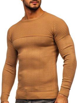 Brązowy sweter męski Denley 4623
