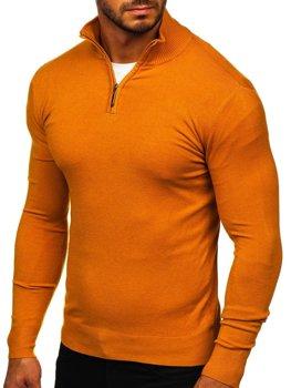 Camelowy ze stójką sweter męski Denley YY08