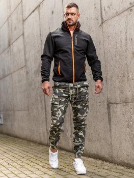 Czarna przejściowa kurtka męska softshell Denley KS2185