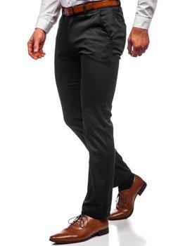 Czarne chinosy spodnie męskie Denley KA1786P