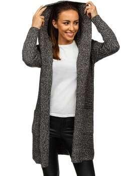 Czarny kardigan sweter damski Denley MM1806