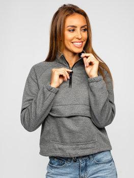 Grafitowa bluza damska Denley KSW2032