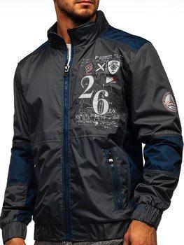 Grafitowa kurtka męska przejściowa Denley 742