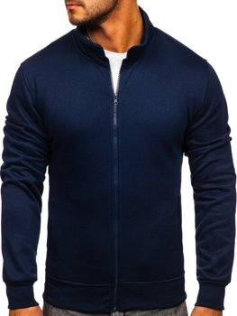 Granatowa bez kaptura bluza męska rozpinana Denley B2002