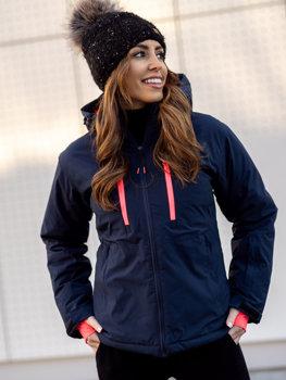 Granatowa kurtka zimowa narciarska damska Denley HH012