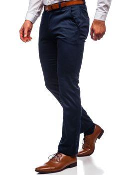 Granatowe chinosy spodnie męskie Denley KA1786P