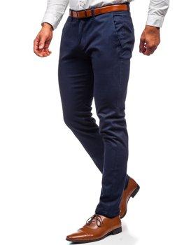 Granatowe spodnie chinosy męskie Denley 1143