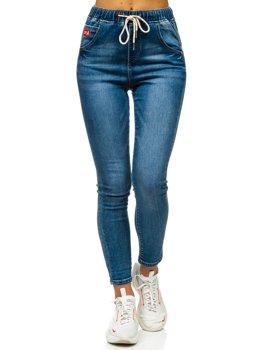 Granatowe spodnie jeansowe damskie Boyfriend Denley DM9338