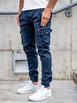 Granatowe spodnie joggery bojówki męskie Denley CT6702