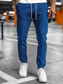 Jasnoniebieskie spodnie męskie joggery Denley 1145