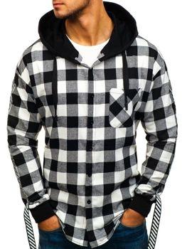 Koszula/bluza męska flanelowa 2w1 czarna Denley 7459