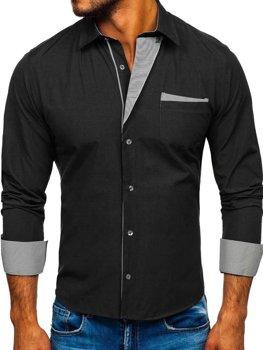 Koszula męska elegancka z krótkim rękawem biała Denley 078N  4YCdO