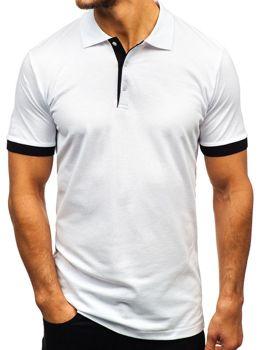 Koszulka polo męska biała Bolf 171222