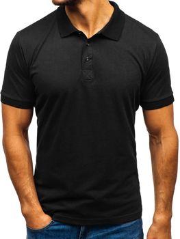 Koszulka polo męska czarna Bolf 171221