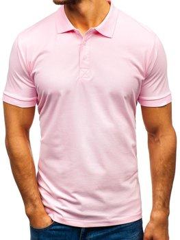 Koszulka polo męska różowa Bolf 171221