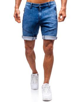 Krótkie spodenki jeansowe męskie granatowe Denley HY347