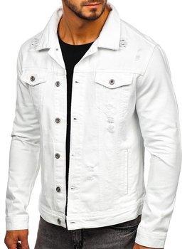 Kurtka jeansowa męska biała Denley 55111