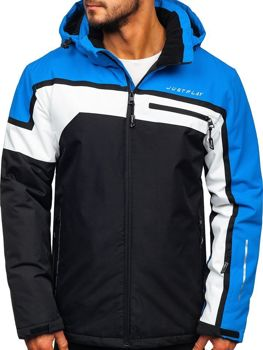 Kurtka męska narciarska niebieska Denley 1339