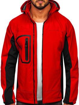 Kurtka męska softshell czerwona Denley T019