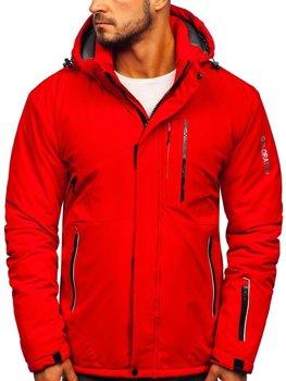 Kurtka męska zimowa narciarska czerwona Denley 1910