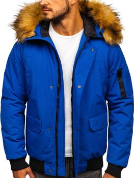 Kurtka męska zimowa niebieska Denley 2019
