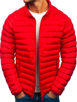 Kurtka męska zimowa sportowa czerwona Denley SM53-A